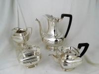 Koffie en theeservies, 4-delig Empire servies - .934 zilver - Bentveld - Van Kempen -1812-1815