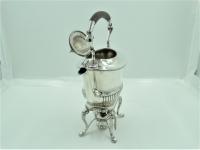 Engels zilveren Bouilloire/ theeketel op brander, 1897 [ Gereserveerd ]