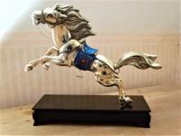 Fraai zilveren paardensculptuur, 39 cm