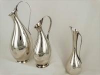 """3 moderne Sterling  zilveren vaasjes, Denemarken """"  Zwangere Luise """""""