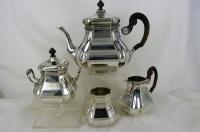 4-delig zilveren theeservies