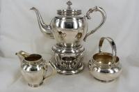 3-delig zilveren theeservies