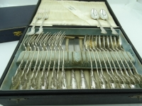 2 bestek cassettes, 1898, 12 x groot, 12 x klein en 12 messen