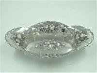 Langwerpige 3e gehalte zilveren fruitschaal