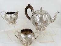 Zilveren theeservies Engeland 1878