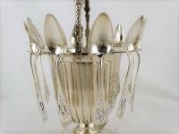 Zilveren suikervaas met 12 zilveren lepeltjes