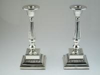 2 Zilveren kandelaars